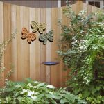 three pretty butterflies ornaments for outdoor fences
