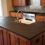 traditional cool amazing wonderful fantastic soapstone kitchen design with black concept and has wooden brown cabinet design