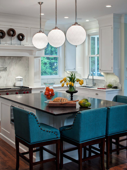 Turqoise Kitchen: Turquoise Bar Stools: Brighten Your Kitchen Bar