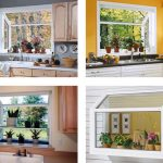 various cool amazing nice wonderful attractive garden windows for kitchen with nice white frame made of wood with beautiful flower decoration