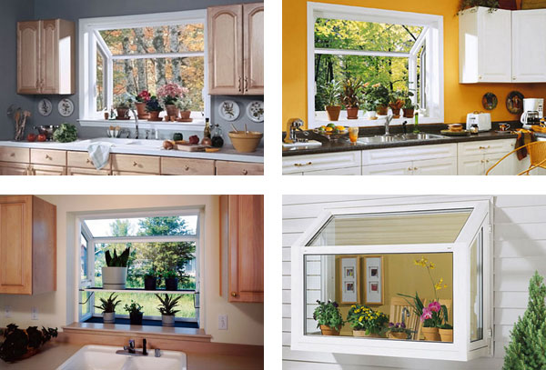 Compact Design of Garden Window for Kitchen