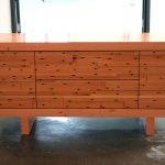 Very Unique Style Of Credenza Furniture With Black Spots Decoration