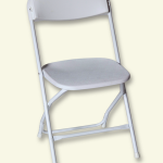 white Lucite folding chair unit