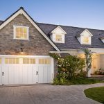 White Painted Wood Door For Garage In Country Style House