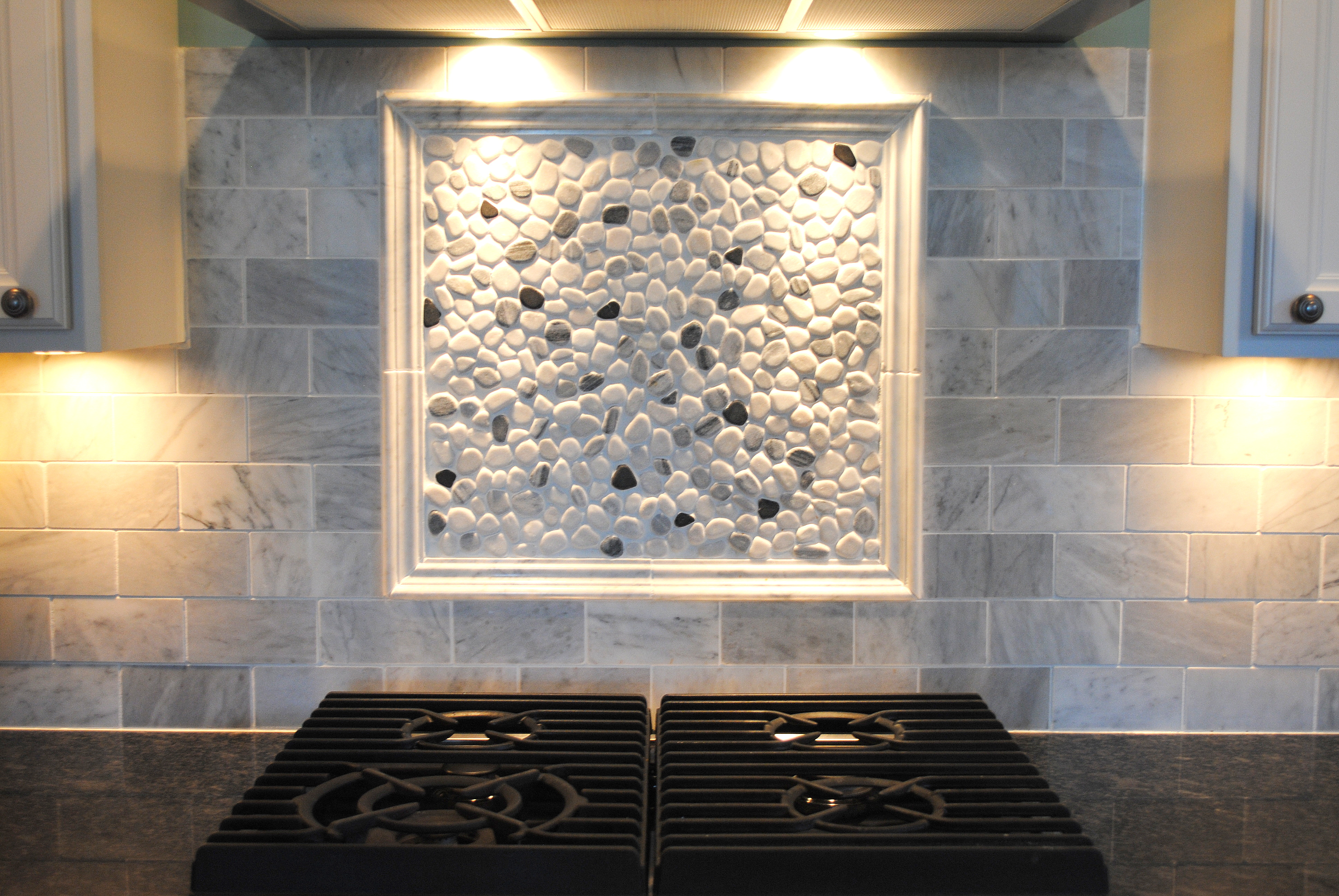 river rock backsplash kitchen river rock backsplash give a new and accent to 4848