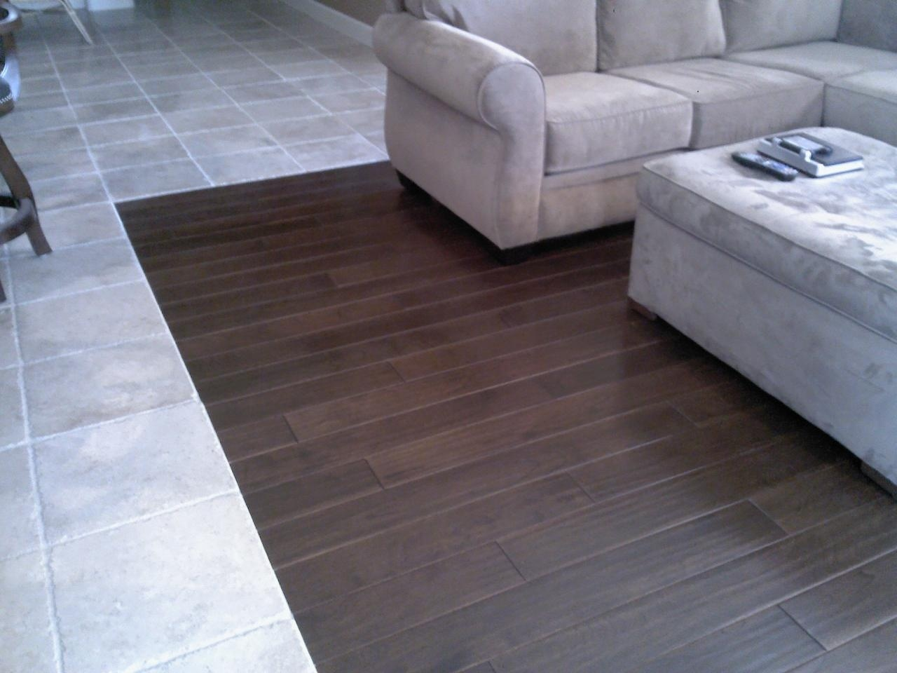 Tile to wood floor transition ideas homesfeed Tile wood floors