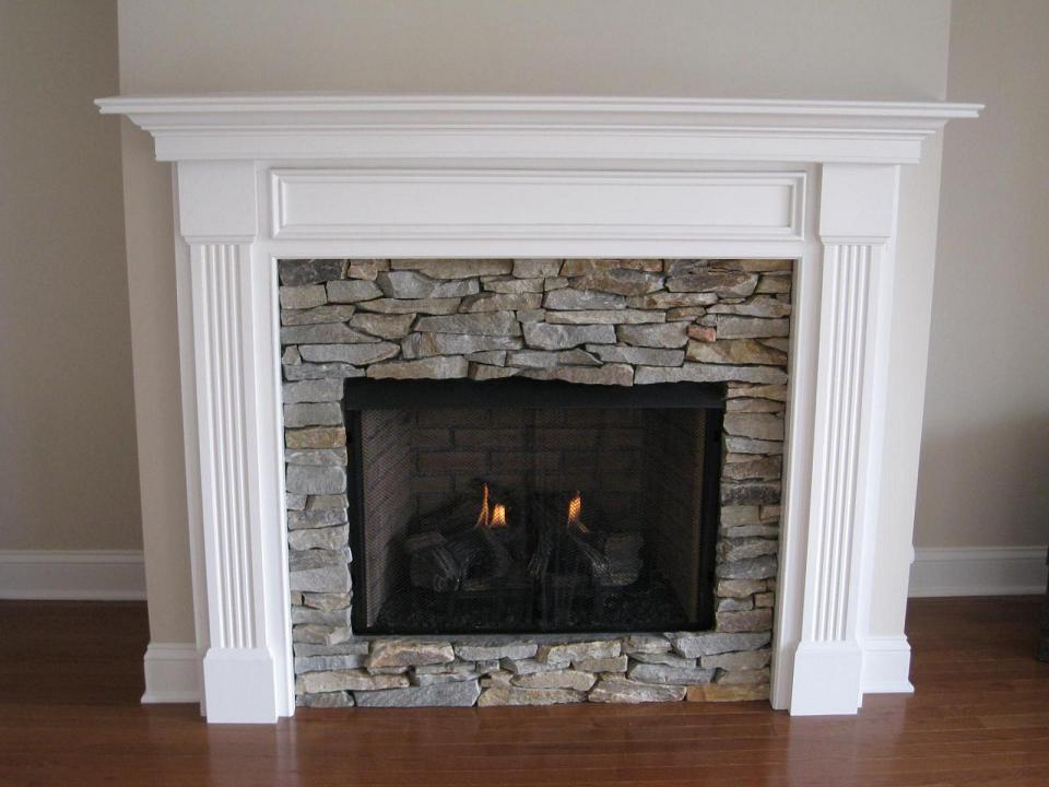 Wonderful Cool Amazing Nice Fantastic Fireplace Mantel Idea With Wooden White Frame Concept Small