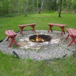 wonderful nice adorable cool fantastic in-ground-fire-pit with nice outdoor design with some benches and small pit with green grass