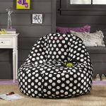 Nice-cool-adorable-modern-simple-soft-comfy-chair-for-bedroom-with-ottoman-concept-with-black-and-white-color-decoration