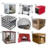 Various-cool-nice-amazing-designer-dog-crate-with-several-design-round-square-white-red-wooden-made-wooden-frame-red-curtain