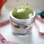 adorable-nice-cool-wonderful-kit-mason-jar-with-green-head-cover-design-with-small-needle-concept-for-small-jar