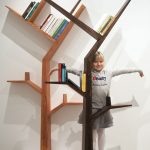 adorable-nice-wonderful-cool-fantastic-tree-shaped-bookshelf-with-small-wooden-concept-with-nice-design-for-kids-room