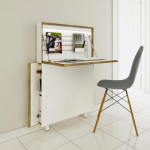 amazing-cool-nice-adorable-simple-mall-slim-computer-desk-with-Flat-Mate-Desk-and-foldable-concept-in-white-wooden-design