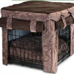 attractive-cool-nice-modern-designer-dog-crate-with-brown-wrapper-concept-iron-made-frame-with-black-coloring-design