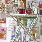 awesome-cool-accessories-furnitures-unique-bar-cart-design-with-stainless-steel-material-and-has-two-shelves-and-handle-with-metal-frame-made-design