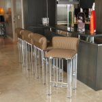 cozy barstools in kitchen bars