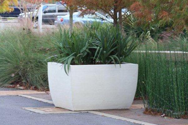 Cement Container Planters : Various concept of concrete planter boxes for home