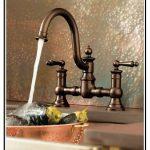 luxurious dark-finish bronze faucet