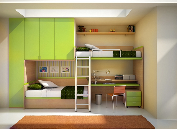 Modern Nice Large Adorable Loft Bed With