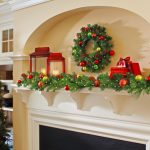 nice-cool-colorful-adorable-fresh-christmas-decoration-for-mantel-with-green-imitated-leaves-decoration-with-christmas-tree-and-red-colorful-design