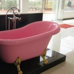 nice-cool-modern-adorable-feminine-colored-bathtub-with-contemporary-bathtubs-concept-made-of-plastic-in-pink-coloring-with-nice-legs