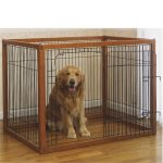 nice-cool-simple-borderless-amazing-designer-dog-crate-with-iron-border-design-with-wooden-frame-with-small-door