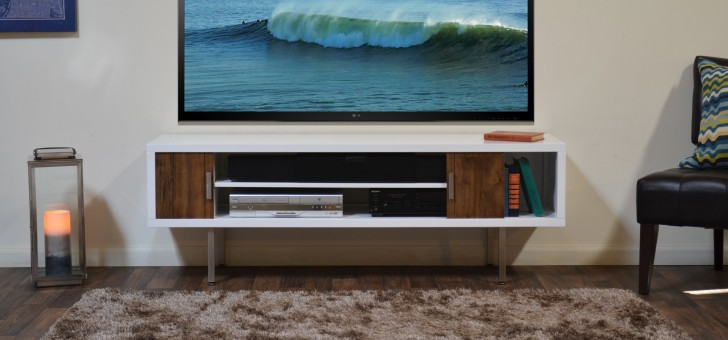 Typical Concept Of Floating Media Console Homesfeed