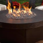 round and black fire pit table for outdoor a set of outdoor furniture