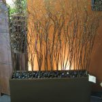 tree planter box for indoor with natural stone surface
