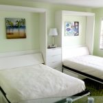 Woderful Double Coolest Fresh Bedroom Furniture Attractive Twin White Modern Foldable Murphy Beds On Lime Room Design With Round Table Glass And Green Mosh Smooth Fur Rug On Top Of Floor Tiles 728x544