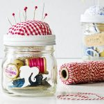 wonderful-adorable-great-perfect-nice-sewing-kit-mason-jar-with-small-glass-jar-trasnparent-desig-with-red-soft-cloth-cover