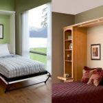 Wonderful Cool Adorable Nice Argentina Home Fold Up Wall Bed With Murphy Bed And Has Small Concept With Simple Bookshelf Design