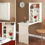 Wonderful Cool Nice Adorable Craetive Desk For Small Space With Space Saving Fold Down Desk With White Coloring And Beautiful Color 728x560