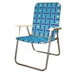 wonderful-cool-nice-amazing-best-lawn-chair-Lawn-deck-Webbed-Steel-Beach-Chair-in-blie-coloring-with-iron-legs-design