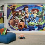 wonderful-nice-adorable-cool-fantastic-toy-story-bedroom-ideas-beautifu-with-large-picture-on-wall-with-nice-realistic-design