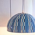 Wonderful Nice Adorable Creative Diy 5 Minute African Pendant Lamp With Blue Coloring Cover Concept With Tough Rope