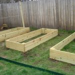 wood concrete planter boxes for outdoor area