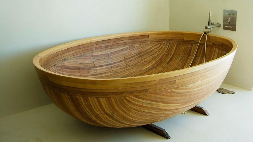 create a romantic sceneryenjoying bath session on soaking tub
