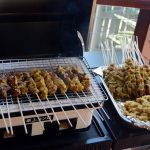 Hibachi grill in simple design Sate Indonesian food