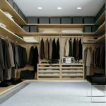Poliform custom closets nyc for men with wardrobe and storage plus stool chair from leather