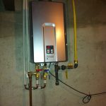 Rinnai tankless water heater  in wall with simple and easy installation