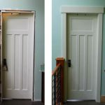 A Door Transformation Before And After Being Installed The Door Casing