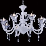 a modern pendant crystal chandelier