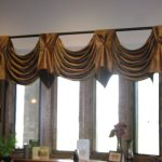 adorable green curtain design with ballon and glass window with wooden frame with golden metal rod