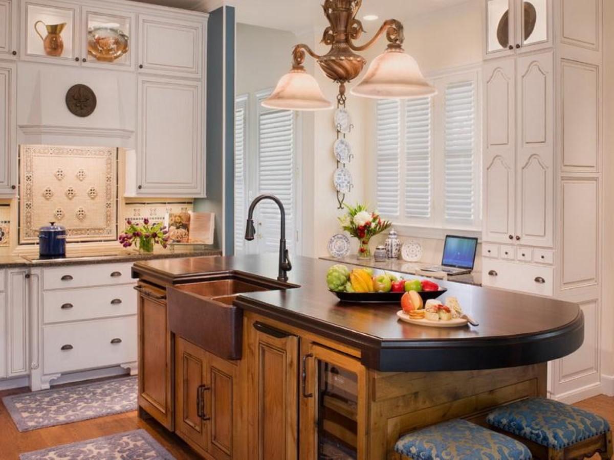 creative kitchen countertop design disguises low cost