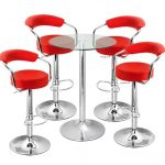 amazing-nice-cool-wonderful-cool-bar-stool-with-Zenith-Bar-Stools-And-Vetro-Table-Set-Design-Ideas-with-red-chair-and-steel-legs-with-round-glass-table