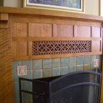 artistic craftsman wood mantel for traditional fireplace