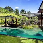 Best Backyard Pools In Rectangle Shape With Awesome Landscape Combined With Living Space Area With Sofa And Table Plus Beautiful Garden
