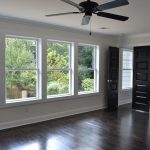 Best Energy Efficient Windows In Double Hung Desing With White Wooden Frame Clear Glazing And Wooden Floor