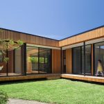 Best Energy Efficient Windows With Large Size Glass Window Plus Brown Curtains And Black Aluminum Frame